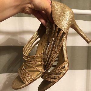 Gianni Bini Strappy Glitter Heels
